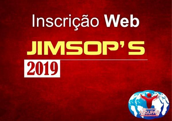 Cadastro On Line para os JIMSOP'S 2019 está liberado