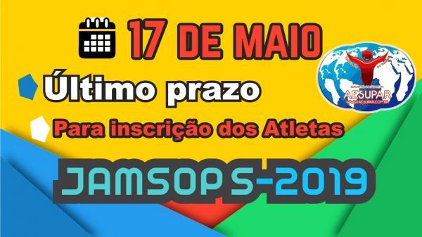 Sexta-feira (17) é o último dia para inscrição dos atletas no Jamsops 2019