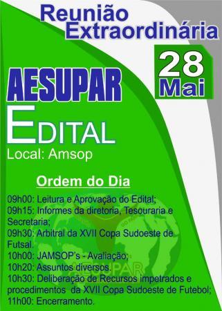 AESUPAR convoca associados para Reunião Extraordinária nesta terça-feira (28)