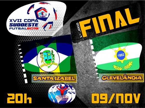 Definidos os finalistas da XVII Copa Sudoeste de Futsal