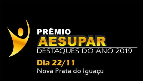 Aesupar promove dia 22 de novembro homenagem aos Melhores do ano 2019 na área esportiva