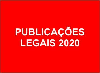 PUBLICAÇÕES LEGAIS 2020