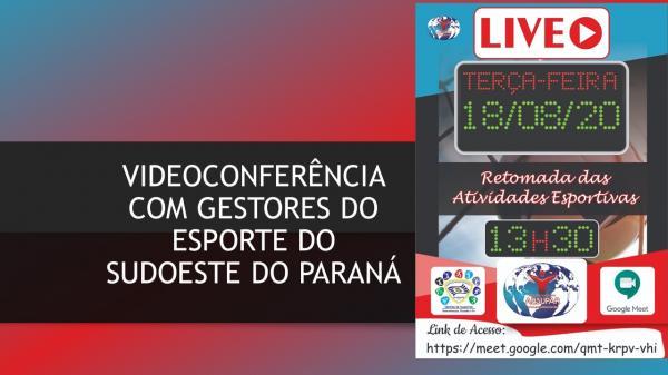 AESUPAR promove videoconferência nesta terça-feira (18) com dirigentes esportivos