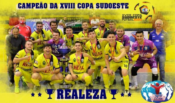 Realeza é campeã da XVIII Copa Sudoeste de Futsal 2020