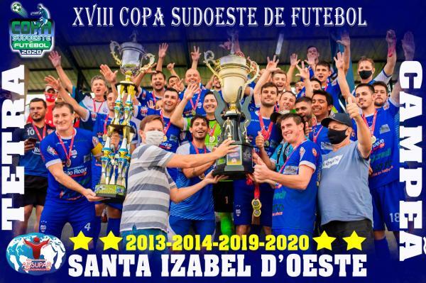 Santa Izabel é Tetracampeã da Copa Sudoeste de Futebol