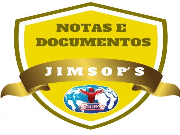 JIMSOP'S: Notas e Documentos