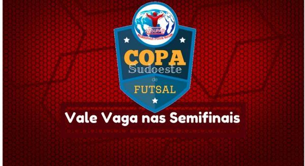 Hoje saem os três primeiros semifinalistas da XV Copa Sudoeste de Futsal