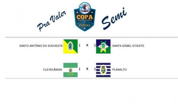 Vai começar a semifinal da XV Copa Sudoeste de Futsal