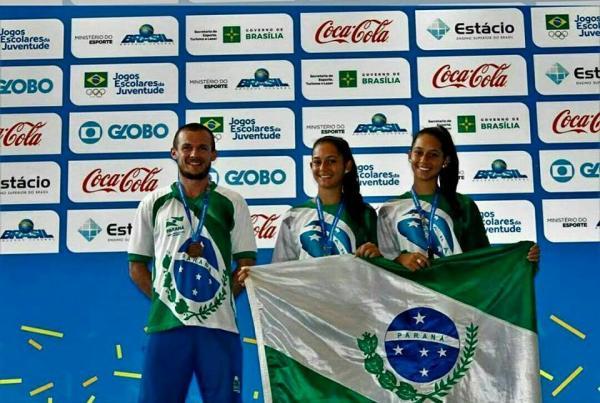 Duda e Gabi Girotto de Salto do Lontra conquistam o Bronze na Fase Final dos Jogos Escolares Brasileiro