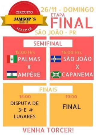 São João recebe a Etapa Final do Circuito Jamsop´s de Futsal Masculino