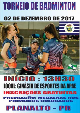 Planalto realizará em dezembro competições de Badminton, Xadrez e Tênis de Mesa