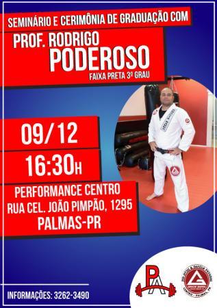 Rodrigo Poderoso ministrará Seminário de Jiu-Jitsu em Palmas