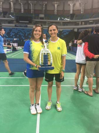 Palmense Andressa Pontes conquista Ouro no Sul-Americano de Badminton por equipes no Sub15