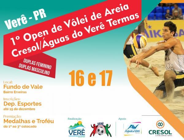 Neste final de semana será realizado o 1º Open de Vôlei de Areia de Verê