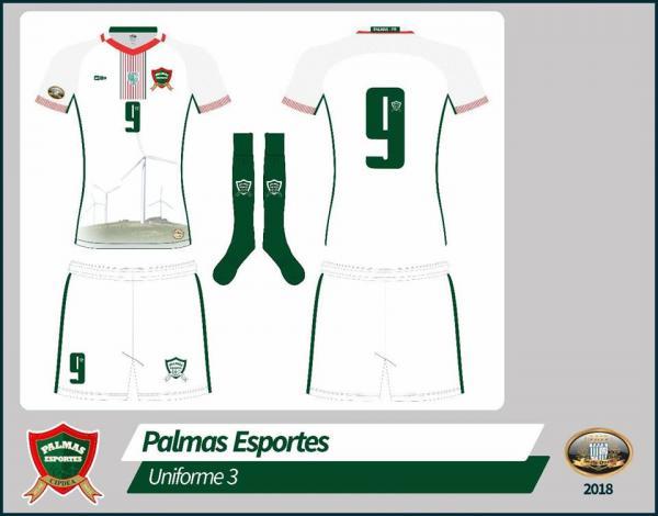 Palmas Esportes divulgou prévia do novo uniforme para a temporada 2018 na Série Ouro