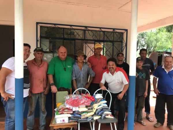 Departamento de Esporte faz entrega de alimentos arrecadados no Campeonato Municipal de Futsal