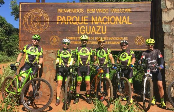 Integrantes do Pedal dos Ventos de Palmas participam de trilha Capanema à Foz pelo Parque Nacional do Iguaçu