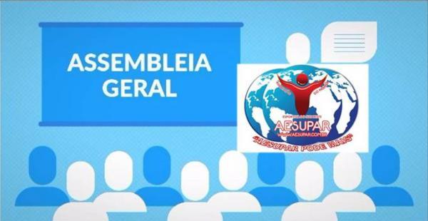 Diretoria da Aesupar convoca associados para Assembleia Geral dia 12 de março