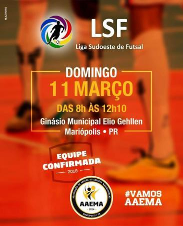 Neste domingo (11), Mariópolis recebe Etapa da Liga Sudoeste de Futsal