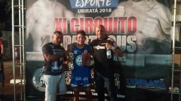 Palmense Gabriel Rodrigues Campeão do XI Circuito Spartacus de MuayThai