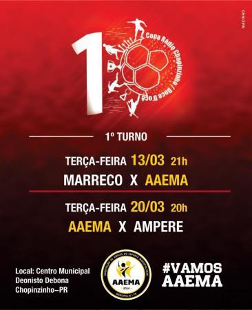AAEMA Mariópolis estreia hoje na Copa Rádio Chopinzinho/Doce/D'ocê