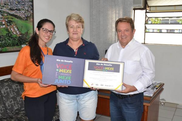 Coronel Vivida recebe Certificado de Participação e convite para o Dia do Desafio 2018