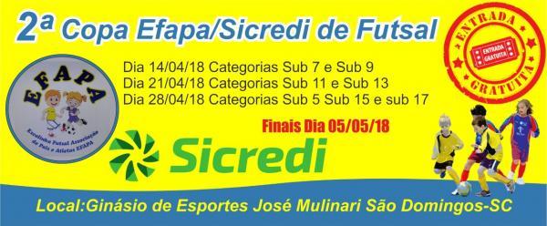 Mariópolis vai participar da 2ª Copa EFAPA/Sicredi de Futsal em São Domingos