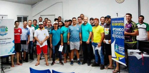 Francisco Beltrão terá terá 28 equipes na disputa do Municipal de Futebol Suíço