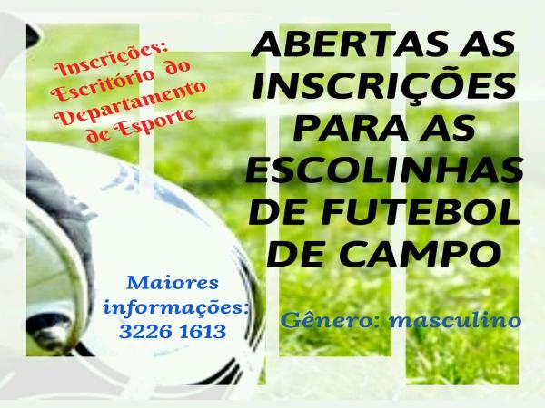 Departamento de Esportes e Lazer de Mariópolis abre inscrições para a Escolinha de Futebol