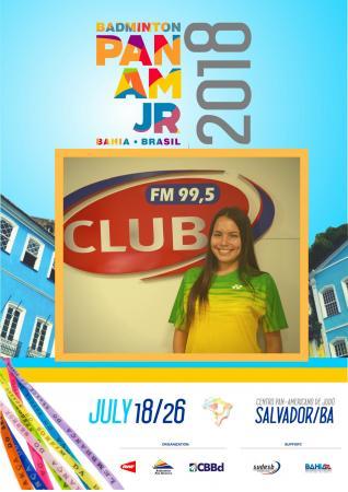 Palmense Andressa Pontes está na relação de atletas para o XXVII Campeonato Pan Americano Jr de Badminton