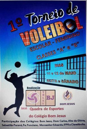 Colégio Bom Jesus promove o 1º Torneio Regional de Voleibol Escolar