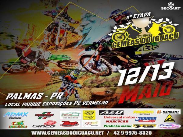 Palmas vai receber neste final de semana a 3ª Etapa da Copa Gêmeas do Iguaçu de Motocross