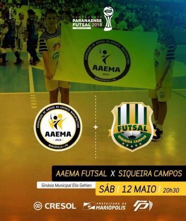 AAEMA Mariópolis vai em busca de mais uma vitória no Campeonato Paranaense de Futsal - Prata