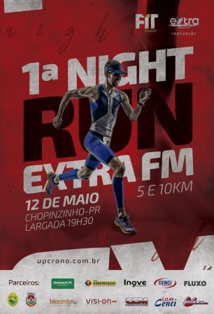 1ª corrida noturna de Chopinzinho, Night Run Extra FM é amanhã (12)