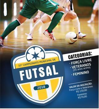 Hoje acontece o Congresso Técnico da 33ª Edição do Municipal de Futsal