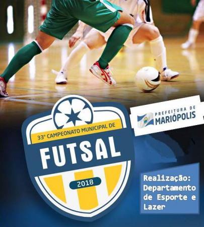 Começa hoje a 33ª Edição do Campeonato Municipal de Futsal em Mariópolis