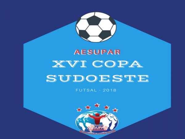 Notas Oficiais e Documentos da XVI Copa Sudoeste de Futsal 2018