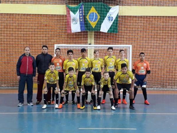 Futsal de Mariópolis estreia com vitória na Fase Macro Regional dos Jogos Escolares 2018