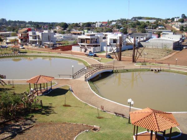 Comitiva da Aesupar vistoria Praças Esportivas de Nova Prata do Iguaçu