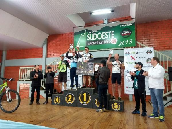 Ciclistas de Mariópolis participaram da 5ª etapa do Circuito de Ciclismo Sudoeste Marathon Bike