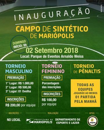 Mariópolis promove torneio de inauguração do Campo de Sintético