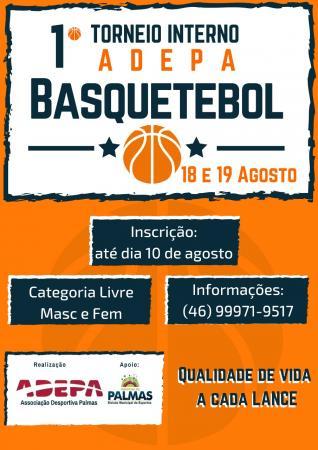 1º Torneio Interno Adepa de Basquetebol será neste final de semana em Palmas