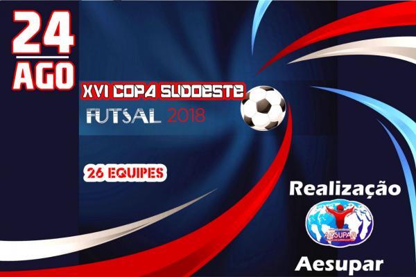 Começa nesta Sexta (24) a XVI Copa Sudoeste de Futsal