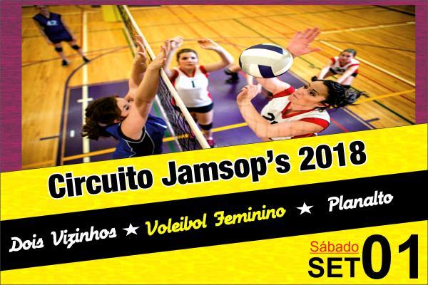 Planalto e Dois Vizinhos recebem a 1ª Etapa do Circuito JAMSOP´s de Voleibol Feminino