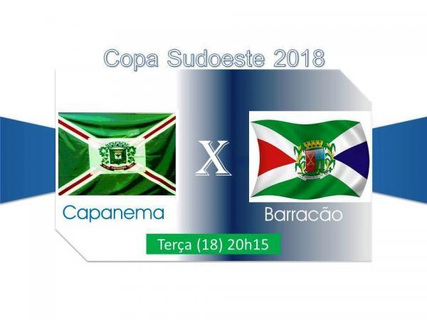 Capanema e Barracão abrem hoje a 5ª rodada da Copa Sudoeste de Futsal
