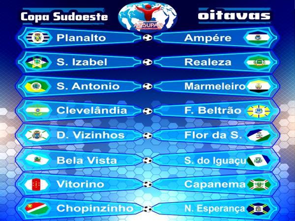 Definidos os confrontos das oitavas da Copa Sudoeste de Futsal