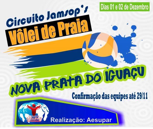Nova Prata do Iguaçu vai sediar o Circuito Jamsop´s de Vôlei de Praia