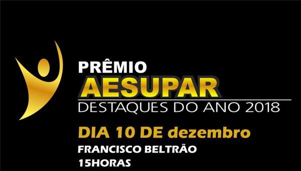 Na próxima segunda (10) a Aesupar vai premiar os Destaques do Esporte 2018