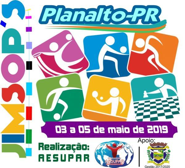 AESUPAR libera Mapa Ofício para os JIMSOP´S 2019 em Planalto